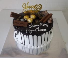 Chocolate topped cake